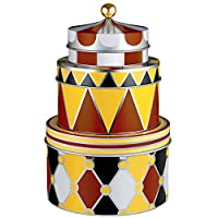 Alessi 可堆叠设计金属储物盒套装,多色,13 x 19.5 x 19.5厘米