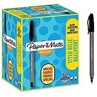 Paper Mate InkJoy 100ST 圆珠笔| 中点(1.0mm)| 黑色| 100支