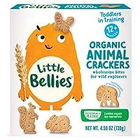 Little Bellies *動物餅干,12 個月以上寶寶,4.58盎司(5包)