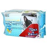 NEO・露生活 新湿巾 可流动湿巾 宠物用 70片装×2个(批量购买)