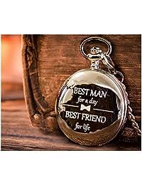 婚礼新郎礼物 | *好的男士礼物 - 雕刻新郎/*好的男士怀表婚礼礼物