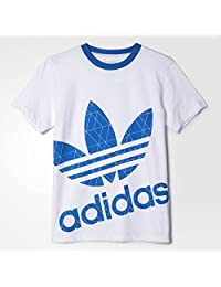 adidas Originals 阿迪达斯三叶草 男童 短袖T恤 S95997 白色