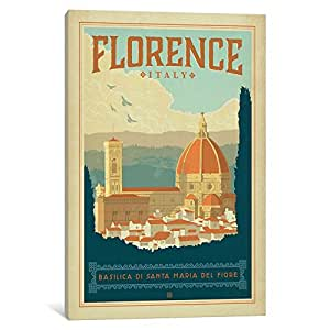 iCanvasART ADG272 WT Florence1001 by Anderson Design Group Canvas Print, 18 by 12-Inch, 1.5-Inch Deep