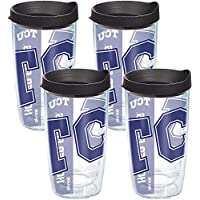 Tervis Texas Christian U Colossal帶黑色蓋子(4 件套),453.59 克,透明