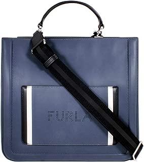 Furla Reale 女式大码米色皮革单肩包