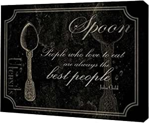 "PrintArt GW-POD-23-JG-RC-073A2-36x28""Spoon Quote 2"" 由 Jace Gray Gallery Wrapped Giclee 油画艺术印刷品,91.44 cm x 71.12 cm"