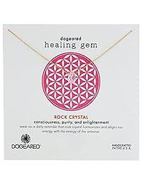 "Dogeared 亚马逊进口直采 美国品牌 ""Lasting Healing Gems"" 石英石 女士吊坠银质 女士项链 16英寸 (约40厘米)G01009"
