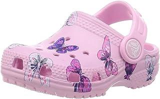 Crocs 卡骆驰儿童经典蝴蝶洞鞋|幼儿水鞋|一脚蹬女童凉鞋