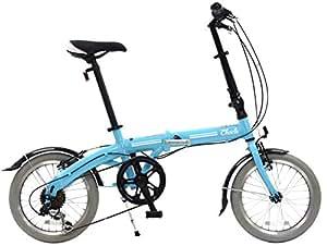 CHACLE(CHACLE) 不需要充气! 无朋克自行车 折叠 16英寸 [外装6段变速、铝框、带轮行包] 蓝色 FDN-CC166AL