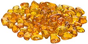 American Fireglass Fireplace and Firepit Eco Glass 橙色 1/4 Inch x 10 Pounds