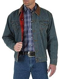 Wrangler男士 Wrangler 男士手工粗制毯子衬里牛仔夹克