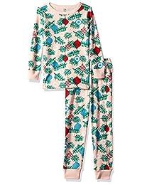 Gymboree 女童 2 件套紧身袖长裤睡衣套装