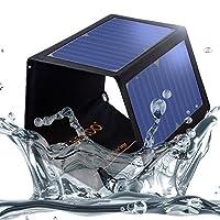 SOKOO 22W 5V 2 端口 USB 便攜式可折疊太陽能充電器帶*太陽能電池板,加固防水,適用于手機、iPhone、背包和戶外FSC-22 黑色