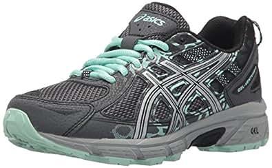 ASICS 女士 Gel-Venture 6 跑步鞋 Castlerock/银/蜂王 8 M US