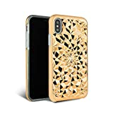 iPhone X Case - FELONY CASE - Beautiful & Stylish 3D Geometric Kaleidoscope Design - Shock Absorbing Protective iPhone X Case Protects Screen & Body Rose Gold
