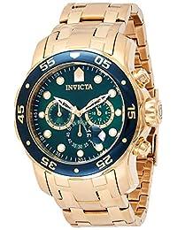 Invicta 男士 0075 Pro Diver 计时码表 18k镀金腕表
