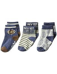 Mud Pie 男宝宝足球比赛日短袜 3 双装