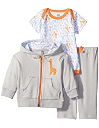 Yoga Sprout Unisex-Baby Giraffe Collection Hoodie Bodysuit and Pant Set