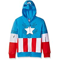 Marvel 男童美国队长服装拉链连帽衫