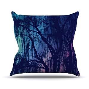 Kess InHouse Robin Dickinson Weeping 室内/室外抱枕 16L x 16W in. 紫色 RD1101AOP02
