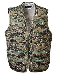 男式 9 口袋工作实用背心军旅旅途背心工作服