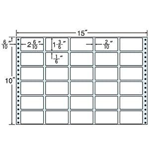 东洋印刷 褶皱泡沫标签 15英寸×10英寸 M15R 30面付