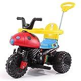 HAPPYBRAND儿童电动车三轮推车可坐推杆卡通小孩玩具宝宝推车-888 (甲壳虫)