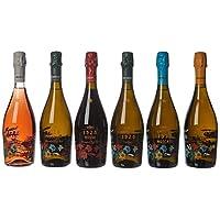 Cavicchioli 卡维留里 意大利之花六种不同口味气泡葡萄酒750ml*6(意大利进口葡萄酒)