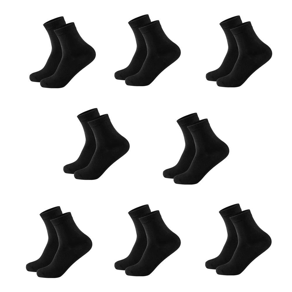 AzWeiler 女式四分之一长度船袜纯棉运动透气袜 4 双 尺码 5-8