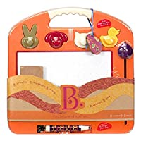B.Toys 比乐 图卢兹磁性画板 柑橘橙 写字板 宝宝画画板 小孩涂鸦板玩具 18个月+ BX1291G  婴幼儿童益智玩具 礼物