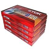 TDK Superior Normal Bias D120 IEC I/Type I 适合日常录音音频盒带 - 4 包