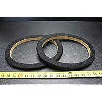 2 个 MDF 扬声器环形垫片 15.24 x 22.86 cm 地毯 木制 3/4 玻璃纤维 包装 RING-69CBK