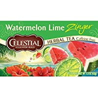 Celestial 调味草本茶 Watermelon Lime Zinger 1.5 Ounce (Pack of 6)
