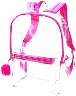 Justice 粉色透明背包