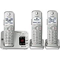松下 KX-TGE463S Link2Cell 蓝牙无线电话接听机 - 3 个手机套 Three Handsets - KX-TGE463S 银色