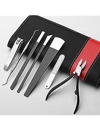 Naturhand 南禾 不锈钢甲沟专用修脚刀 指甲剪嵌甲钳 去死皮钳 灰指甲钳老茧刮刀 7件套装