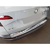 汽车风格 2/35188 不锈钢后保险杠保护膜 Karoq 2017-'Ribs',银色