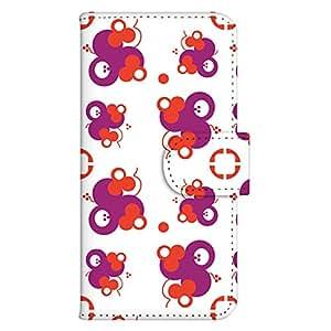智能手机壳 手册式 对应全部机型 印刷手册 wn-687top 套 手册 花朵图案 UV印刷 壳WN-PR045951-M AQUOS PHONE ZETA SH-09D 图案 A