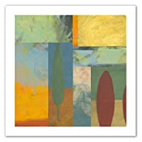 Art Wall Jan Weiss Tuscany Square II Unwrapped Flat Canvas Art, 22 by 22-Inch