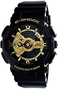 G-SHOCK男士Military GA-110手表,黑色/金色,均码