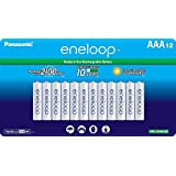 Panasonic BK-4MCCA12SA Eneloop AAA 2100 周期镍氢预充电可充电电池,12 支装