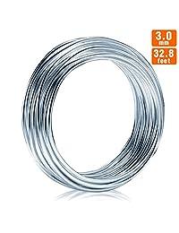 DIY 铝线可弯曲金属工艺线 Silver 3.0mm(32.8 feet) ALU-B310