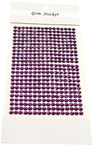 Kel-Toy 圆形水钻贴纸 紫罗兰色 5mm DSW05-24