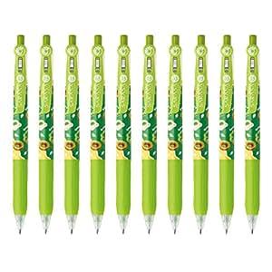 ZEBRA 斑马 凝胶圆珠笔 SARASA CLIP MISTANut 浅绿色 10支