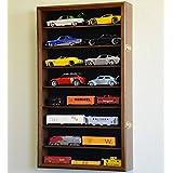 大号 1/24 比例压铸模型汽车陈列柜柜支架 16 辆汽车 1:24 胡桃木饰面 DC7030w