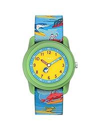 Timex 男童 Unisex-ChildrenTW7C836009J  Analog Fabric 藍色 TW7C836009J watches