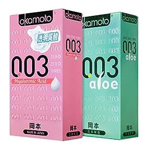 Okamoto 冈本 避孕套 超薄安全套 003组合20片(透明质酸10片+芦荟10片) 原装进口