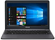 ASUS 华硕 VivoBook L203MA超薄笔记本电脑,11.6英寸高清,英特尔赛扬N4000处理器(高达2.6 GHz),4GB内存,64GB eMMC,USB-C,Windows 10 S模式,一年Microsoft Office 365