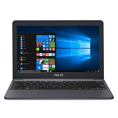 ASUS VivoBook E203MA超薄笔记本电脑,Intel Celeron N4000处理器(高达2.6 GHz),4GB LPDDR4,64GB eMMC闪存,11.6英寸高清显示器,USB-C,Windows 10 S模式,E203MA-YS03