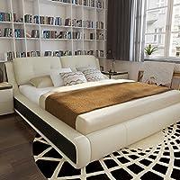 顾家家居 真皮床1.8m*2m 双人床现代婚床家具B-113-2(亚马逊自营商品, 由供应商配送)